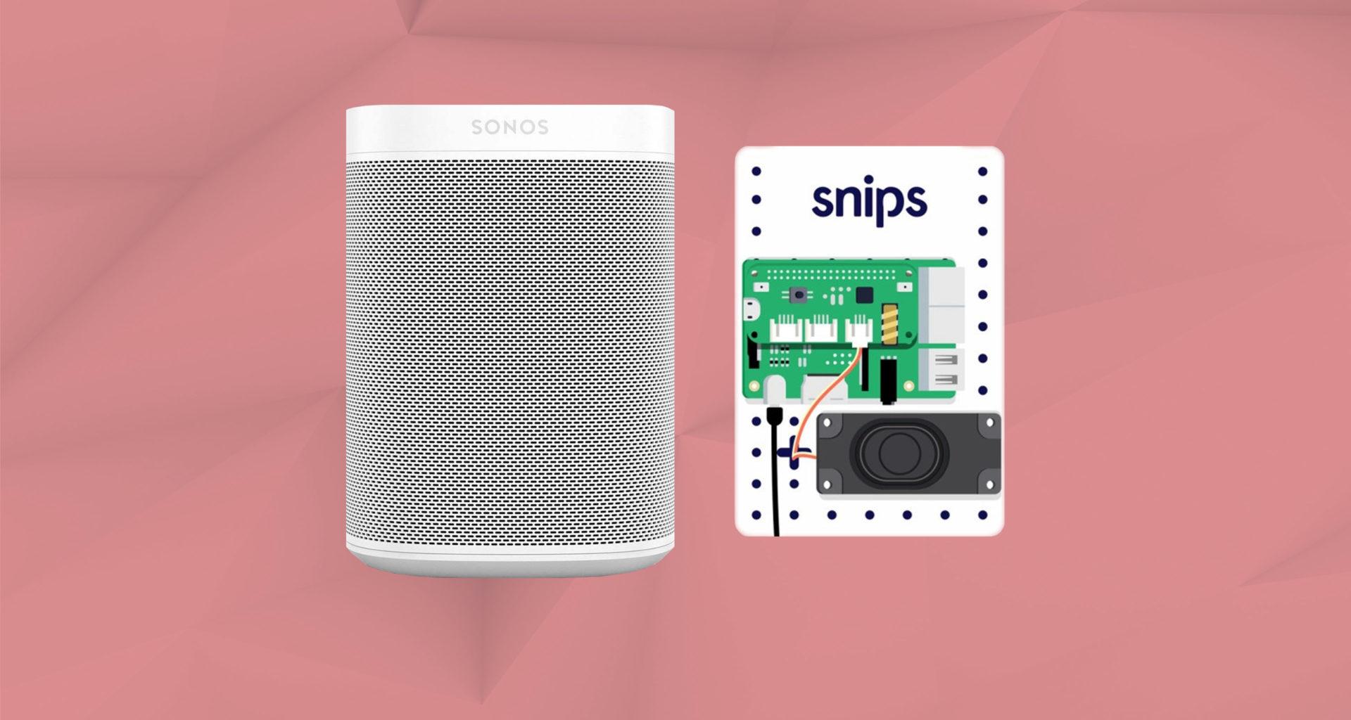 Sonos et Snips assistant vocal français de protection des données privées